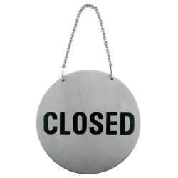 APS Türsymbol Open-Closed mit Kette, drehbar