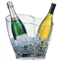 APS Wein-/ Sektkühler Kunststoff klar 30,5x21,5x26 cm