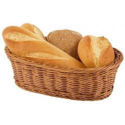 APS Brot- und Obstkorb oval 23x17x8,5 cm braun