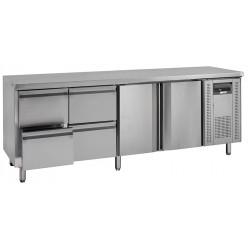 NordCap Cool-Line Kühltisch KTM 4 - 2T 4Z GN 1/1