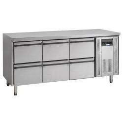 NordCap Cool-Line Kühltisch KTM 3 - 6Z GN 1/1