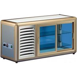 KBS Kühlaufsatzvitrine Orizont 100 Q mit Schiebetür (silber)