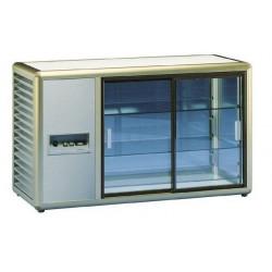 KBS Kühlaufsatzvitrine Orizont 200 Q mit Schiebetüren (silber)