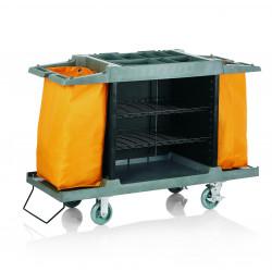 WAS Zimmerservicewagen 2 Wäschesäcke gelb 150 x 54 x 100 cm Kunststoff