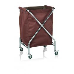 WAS Wäschewagen 61 x 61 x 98,5cm Chromnickelstahl Polyester