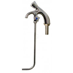 Hagola - Kaltwasserhahn verchromt, 1 Unterspülrohr mit festem Auslauf