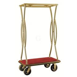 WAS Gepäck-Transportwagen Höhe 180 cm Bordeaux, Platinium Goldfarben