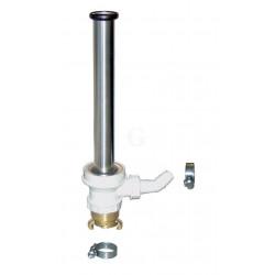 Hagola Standrohrventil 1 1/4 Zoll mit Standrohr Edelstahl poliert T-Stück mit Muldenablauf Zubehör