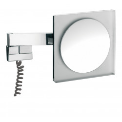Frasco LED Wandspiegel, eckig 220 mm, Vergrößerung 5-fach