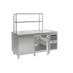 GRAM Durchreiche-Kühltisch / Saladette GASTRO K 1808 D CSG S OPL DL/DR L2