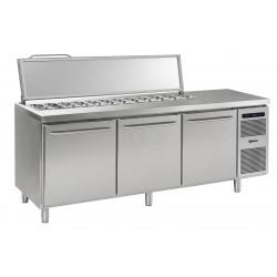 GRAM Saladetten-Kühltisch GASTRO K 2408 CSG SL DL/DL/DR L2