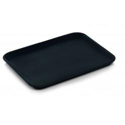 WAS GN Tablett 1/2 schwarz Polypropylen