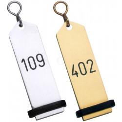 Contacto Hotel-Schlüsselanhänger, silber