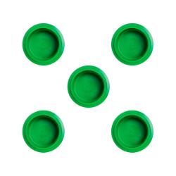 PacoJet Kunststoff Pacossier®-Becherdeckel 5 Stück-grün
