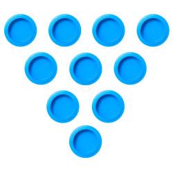 PacoJet Kunststoff Pacossier®-Becherdeckel 10 Stück-blau