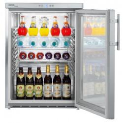 Liebherr Edelstahl unterbaufähiges Kühlgerät mit Glastür FKUv 1663-24