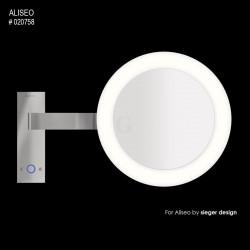 Aliseo Reflection Kosmetikspiegel mit Beleuchtung Led Moon Dance Wandhalterung