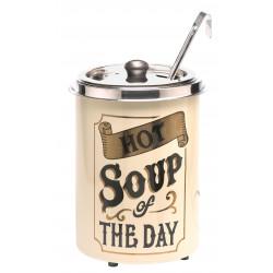 Neumärker Hot-Pot Suppentopf Hot Soup of the Day, mit Blattgold-Dekor