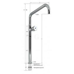 Knauss Armatur profi Standventil 3/4 Zoll - A 300 mm - H 560 mm