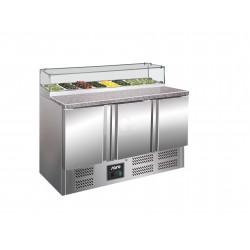 SARO Pizzatisch mit Glasaufsatz Modell PS 300 G