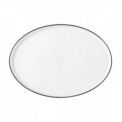 Seltmann Weiden Good Mood Black Line Teller flach oval 29 cm M5398-29x21