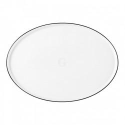 Seltmann Weiden Good Mood Black Line Teller flach oval 32 cm M5398-32x23