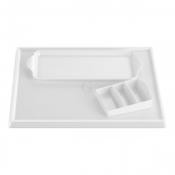 Aliseo Hotel WELCOME TRAY SOLUTION Komplettes Tablettset - weiß