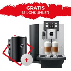JURA X8 Platin Kaffeevollautomat (EA) mit Milchkühler Cool Control 1 Liter