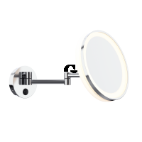 Aliseo Kosmetikspiegel LED ME Doppel-Schwenkarm