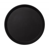 CAMBRO Camtread Fiberglas Tablett mit Rutschfester Oberfläche 40,5 cm Schwarz