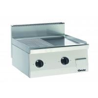 Bartscher Elektro-Griddleplatte 1/2 glatt 1/2 gerillt Serie 600