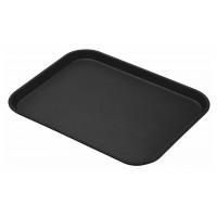 CAMBRO Camtread Fiberglas Tablett mit Rutschfester Oberfläche 36 x 46 cm Schwarz
