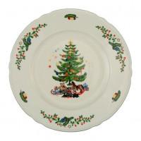 Seltmann Weiden Speiseteller 27 cm Fahne - Marieluise elfenbein 43607 Weihnachten