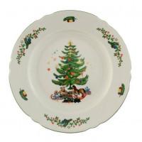Seltmann Weiden Speiseteller 25 cm Fahne - Marieluise elfenbein 43607 Weihnachten