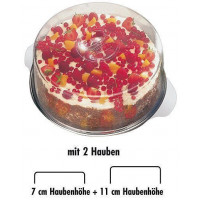 APS Tortenplatte/Edelstahl-Tablett mit 2 Hauben