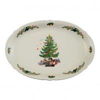 Seltmann Weiden Platte oval 35 cm - Marieluise elfenbein 43607 Weihnachten