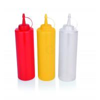 WAS Quetschflasche Ø 7 cm 0,7 Liter rot Polyethylen