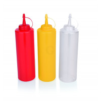 WAS Quetschflasche Ø 7 cm 0,7 Liter transparent Polyethylen