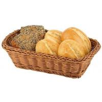 APS Brot- und Obstkorb rechteckig 23x17x7,5 cm braun