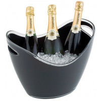 APS Wein-/ Sektkühler Acryl/Polystyrol schwarz 35x27x25,5 cm