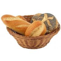 APS Brot- und Obstkorb rund 25,5x9 cm braun