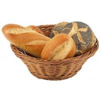 APS Brot- und Obstkorb rund 19x9 cm braun
