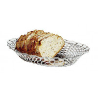APS Brot- und Obstkorb oval 30x24x5 cm Edelstahl