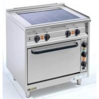 EKU Thermik 650 Elektroherd mit Ceranfeld 4 Kochzonen und Elektrobackofen-20