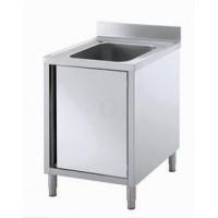 Gastro-Steel Edelstahl Spülschrank mit 1 Becken 600x600 mm