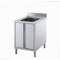 Gastro-Steel Edelstahl Spülschrank mit 1 Becken 700x600 mm