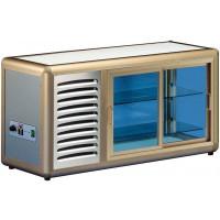 Kühlaufsatzvitrine Orizont 100 Q mit Schiebetür (silber) von KBS