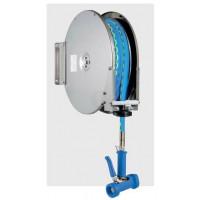 """Knauss Armatur Power Reel Trinkwasser-Schlauch blau Schlauchaufroller offen 1/2"""" - L 10 m"""
