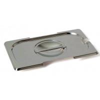 Rieber GastroNorm-Behälter GN 1/4 Flachdeckel mit Löffel/Griff Ausschnitt
