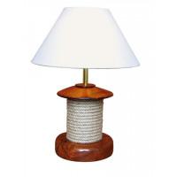 SeaClub Lampe mit Tau, Holz